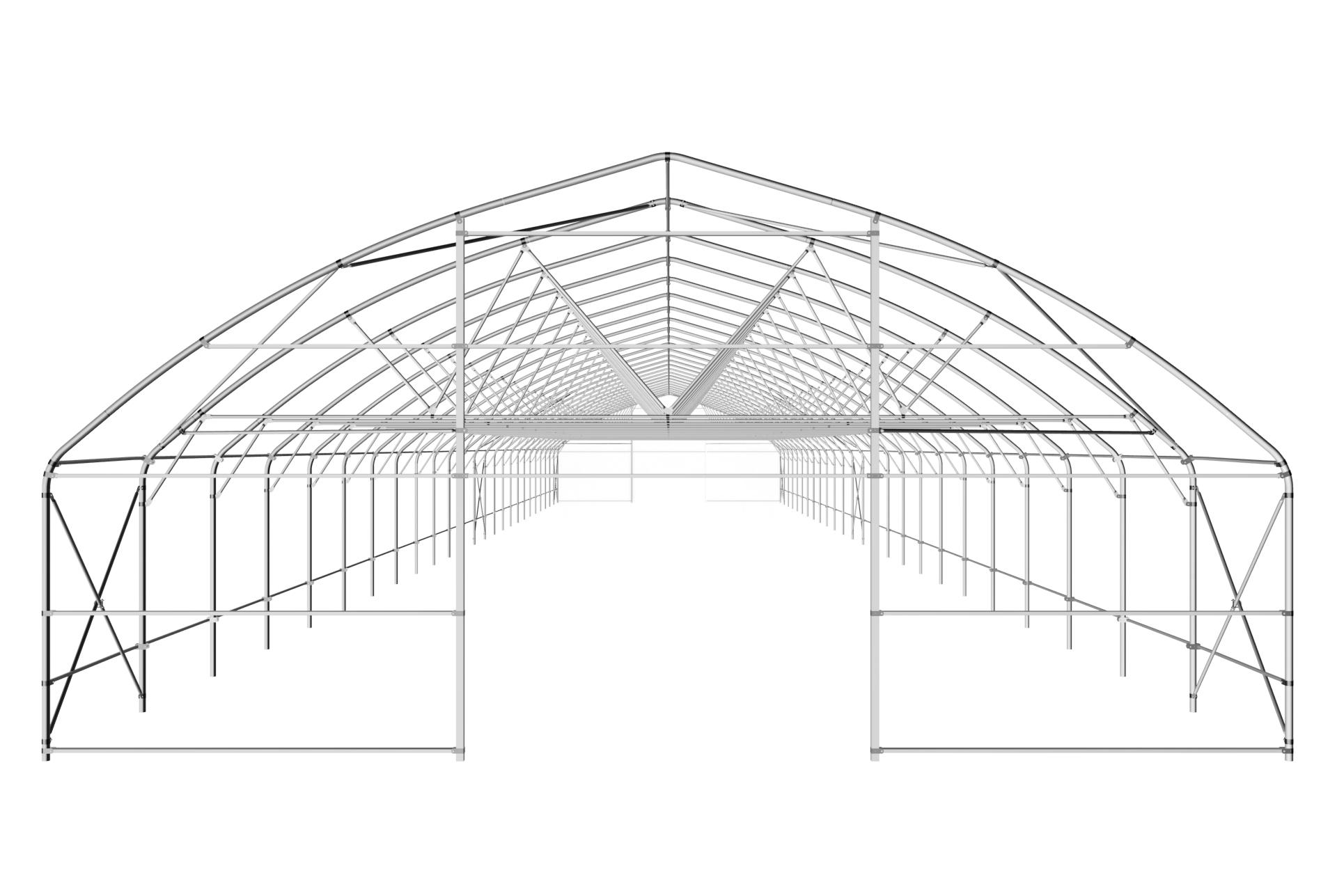 Фермерская теплица туннельная с прямой стенкой 9,6х4,7 м