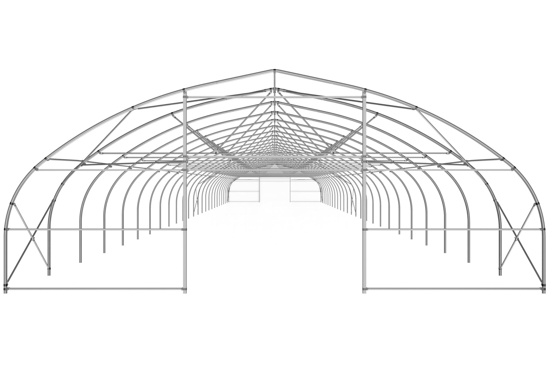 Фермерская теплица туннельная с прямой стенкой 9,6х4,0 м